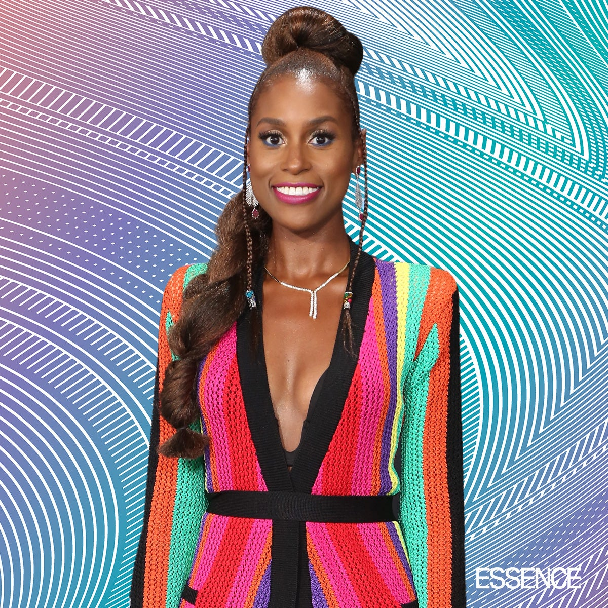Issa Rae Paired Her Balmain With Braids for the 2017 BET Awards