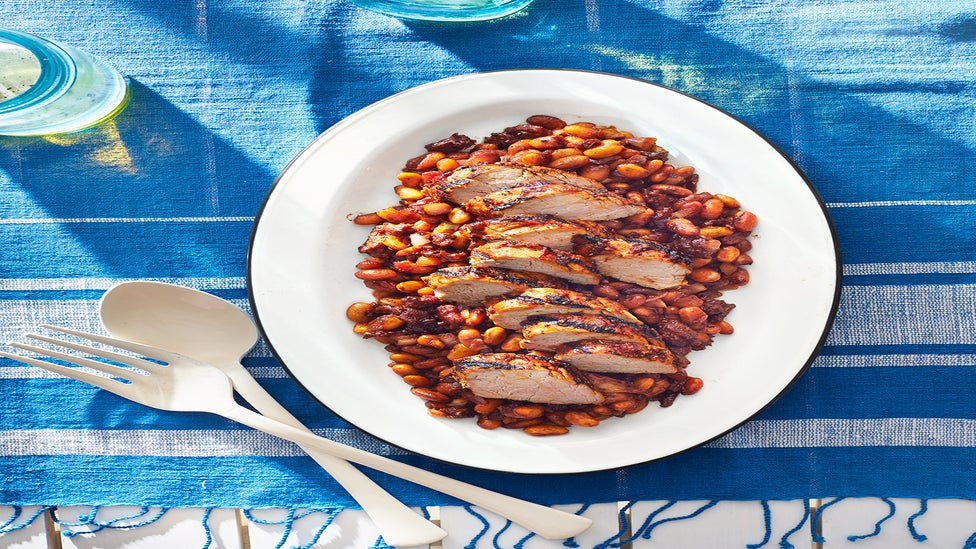 July 2017 Issue: Pork & Beans With Coca-Cola BBQ Sauce