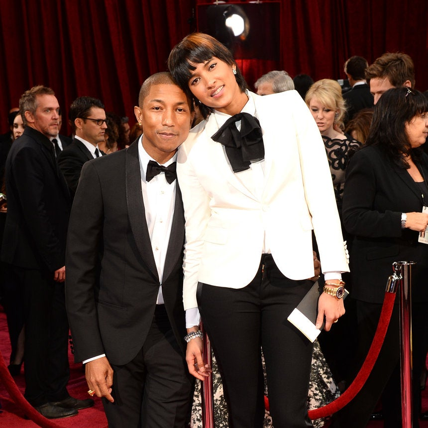 Pharrell Williams Praises Wife As He Admits He's Not Changing His Triplets' Diapers