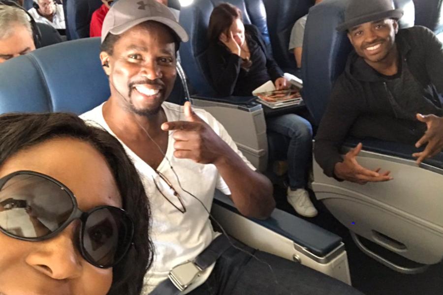 Larenz Tate, Loni Love, And Harold Perrineau Enjoy A Fun Flight To ...