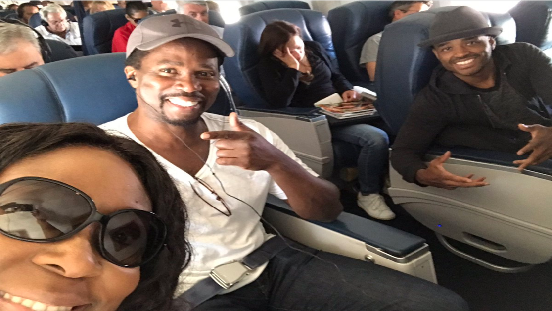 Larenz Tate, Loni Love, And Harold Perrineau Enjoy A Fun Flight To ESSENCE Fest