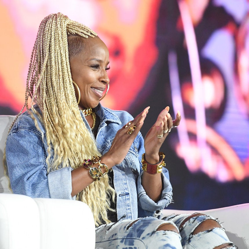 Mary J. Blige Debuts Epic Blonde Braids and Undercut at the 2017 ESSENCE Fest