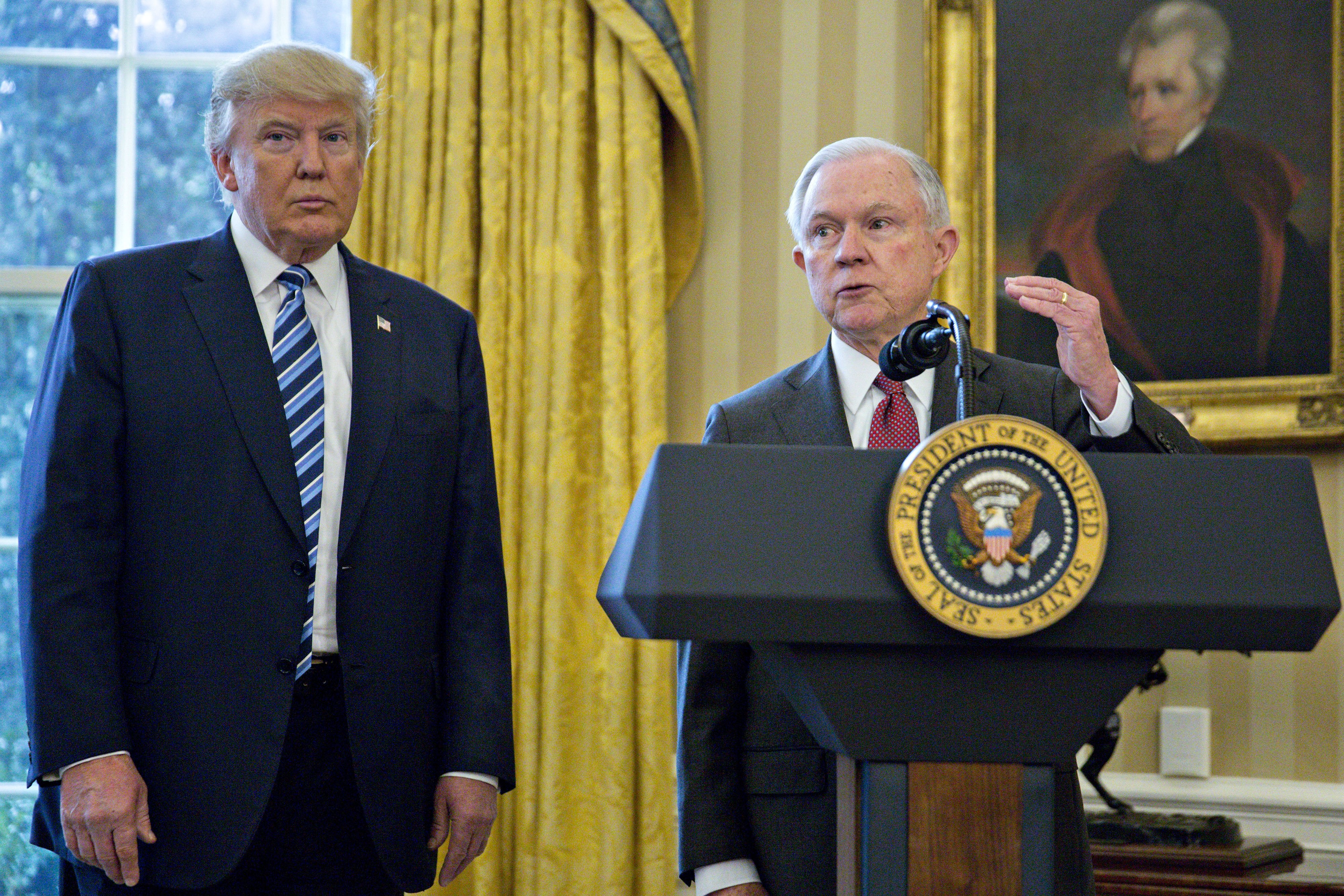 "Donald Trump Calls AG Jeff Sessions ""Weak"" On Twitter"