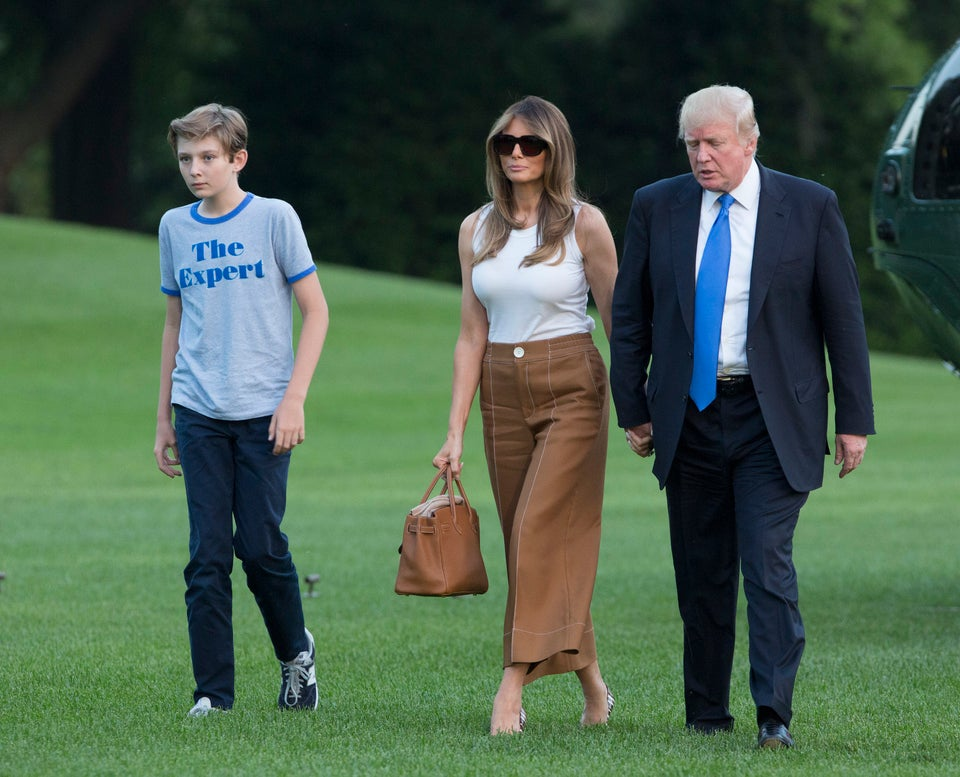 Melania And Barron Trump Have Moved Into The White House