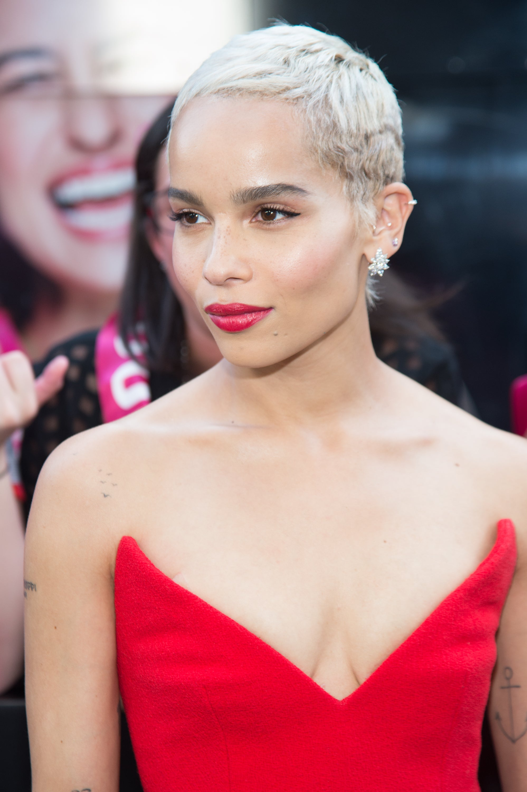 Zoe Kravitz Matches Her Makeup and Outfit at 'Rough Night' Premiere