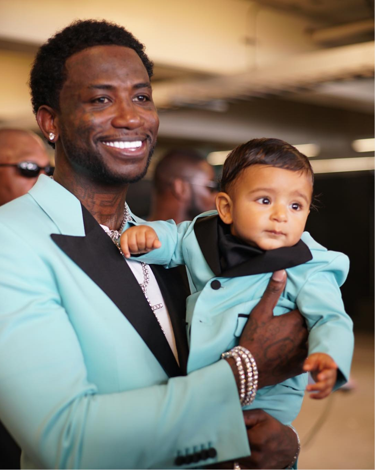 Gucci Mane and Asahd Khaled Wear Matching Tuxedos to BET Awards- Essence