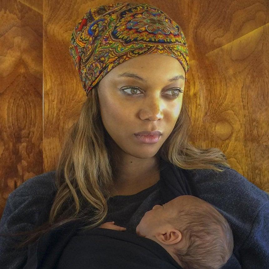 It Looks Like Tyra Banks' Beautiful Son York Has Mama's Eyes