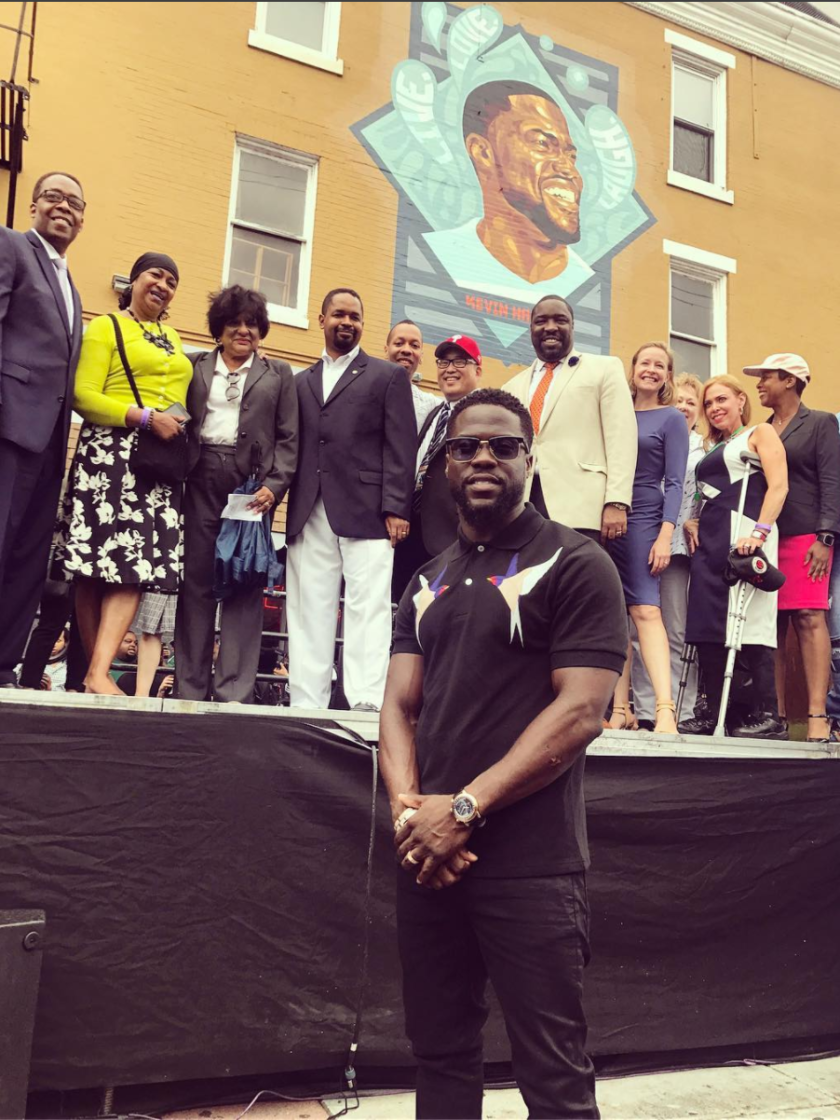Kevin Hart Honored With Day And Mural In Philadelphia
