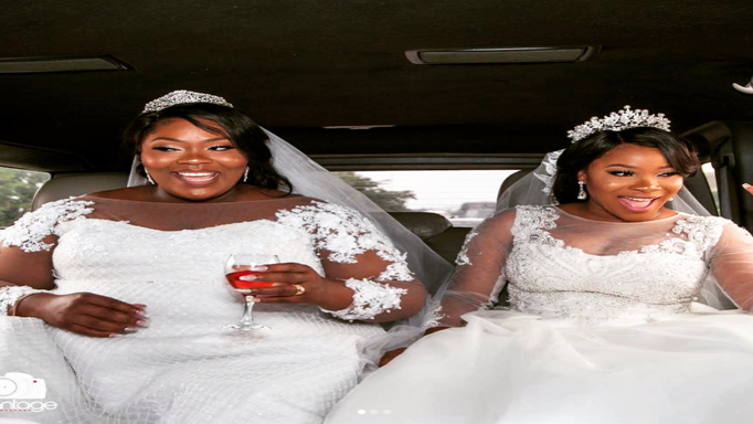 Black Wedding Moment Of The Day: Twin Sisters Tie The Knot On The Same Day