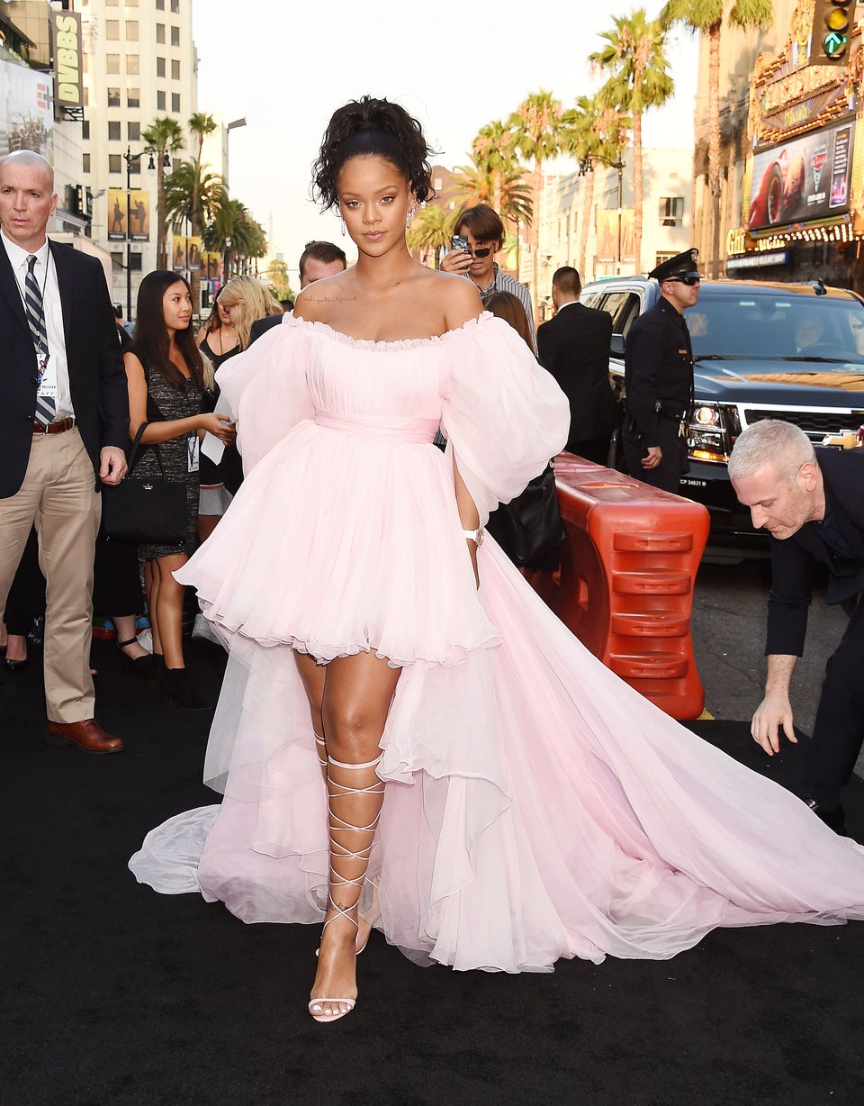 Rihanna Gives Ballerina Chic of Epic Proportions in Dazzling Pink Gown