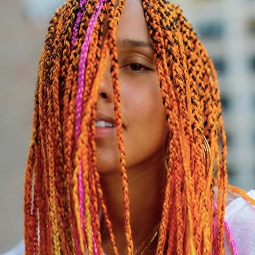 Alicia Keys Debuts New Summer Look with Orange and Pink Braids -- See the Photos!