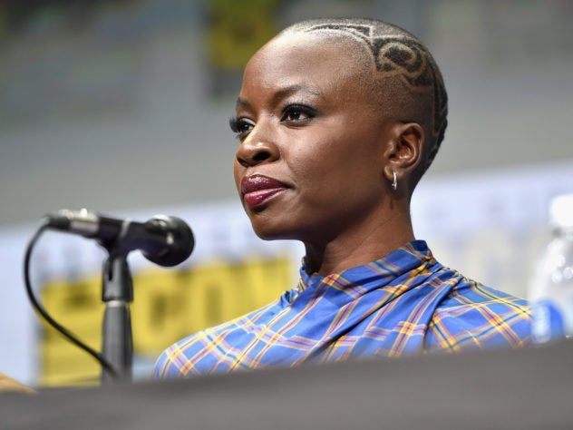 You Have To See the Buzz Cut Design Danai Gurira Wore to Comic-Con