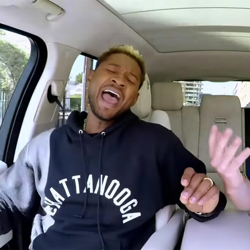 Yeah! Yeah! Yeah! Usher Rides Shotgun With James Corden For Carpool Karaoke