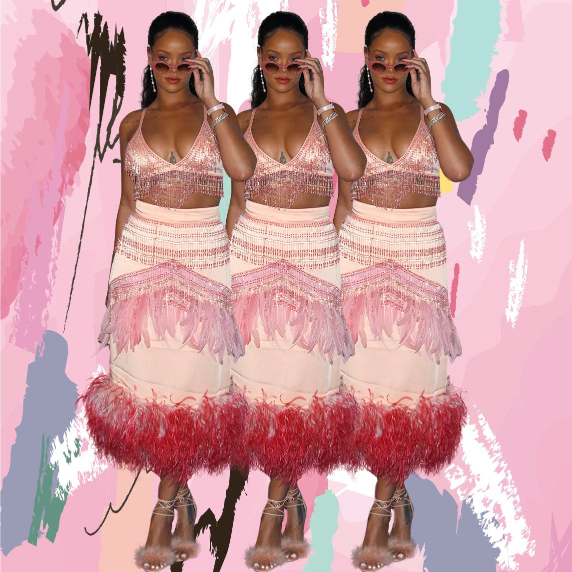 Rihanna Continues Style Reign With Pink Prada Moment of Epic Proportions
