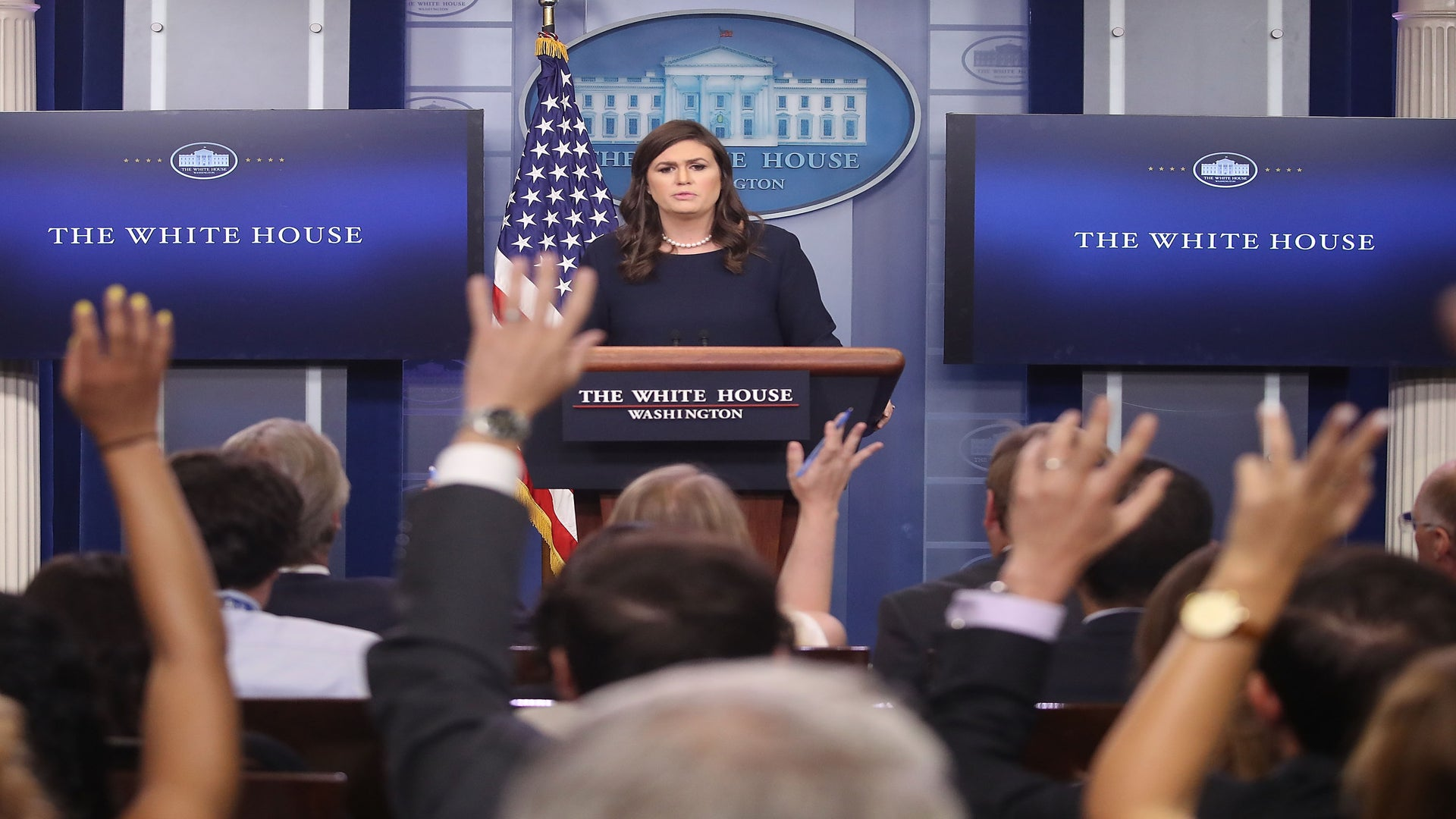 White House Propaganda Hits All Time High As Press Secretary Reads Fan Mail During Briefing