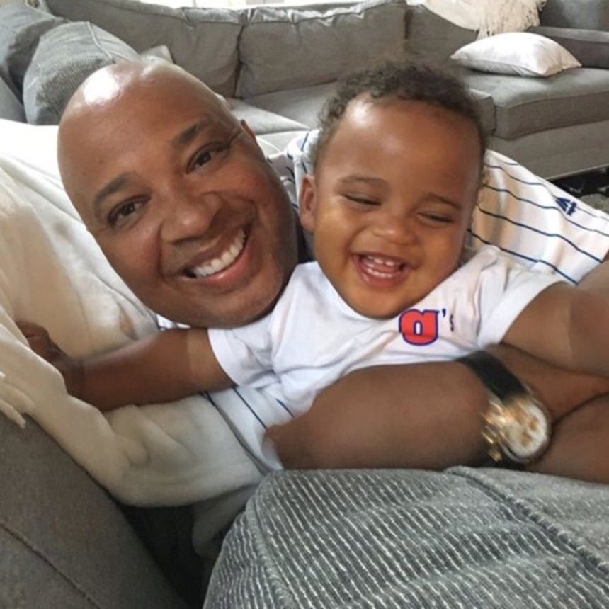 Grand Daddy Duty: Rev Run Poses It Up With Angela Simmons' Son