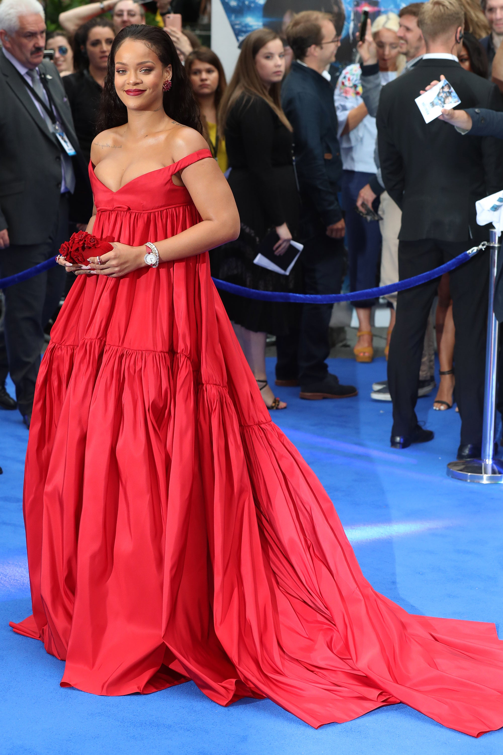 Rihanna Reigns in Couture, Cleavage-Baring (and Jaw-Dropping) Gown at Valerian London Premiere