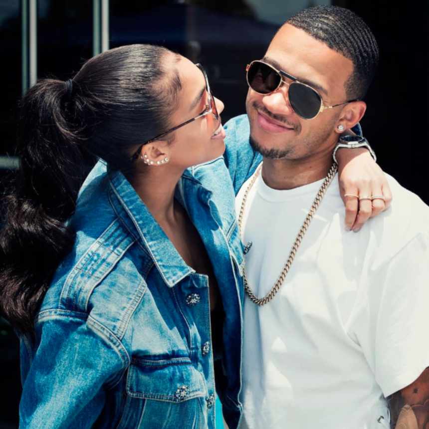 15 Sweet Photos Of Steve Harvey's Stepdaughter Lori Harvey And Her Fiancé Memphis Depay