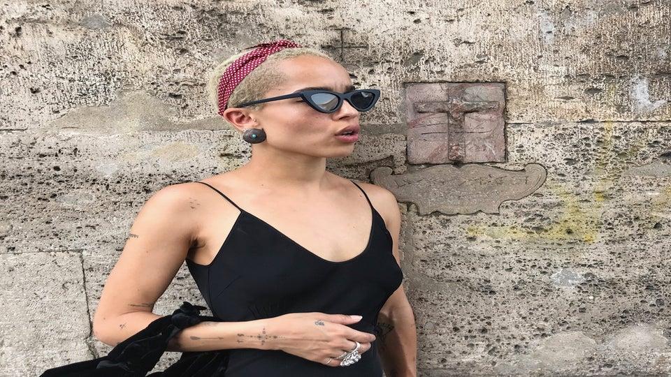 Rock the Cat-Eye Trend Like Ultimate Cool Girl Zoë Kravitz