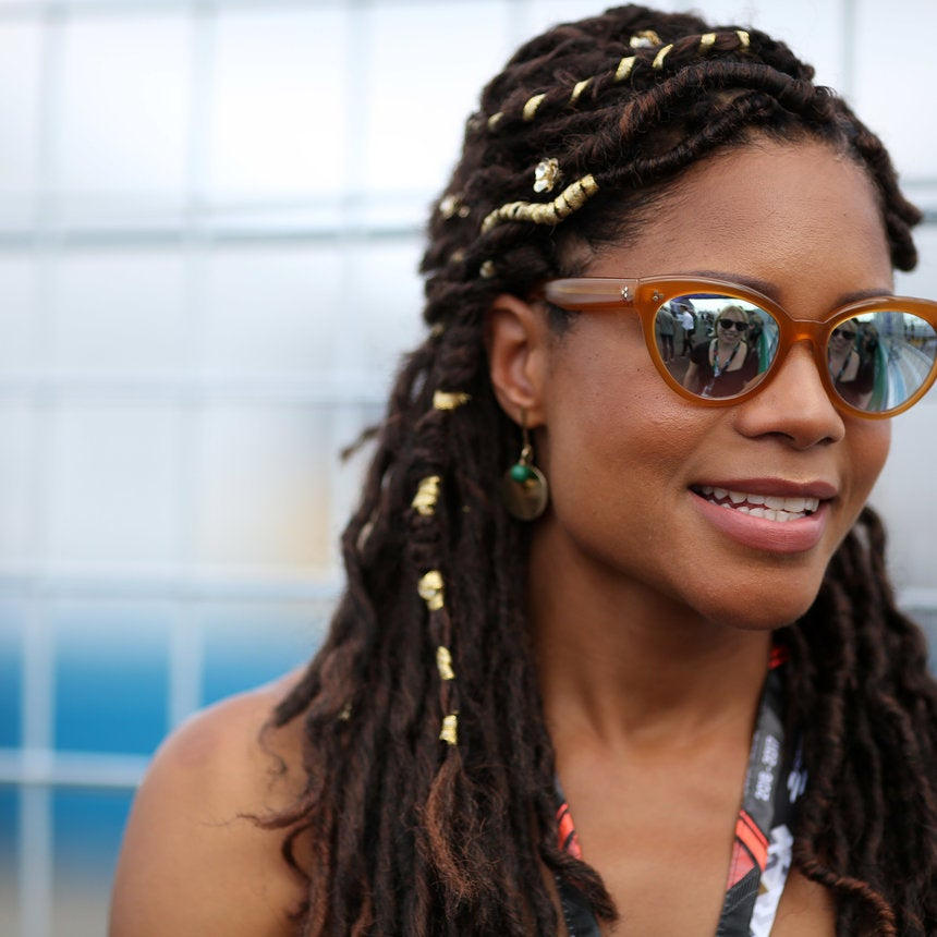Naomie Harris Ditched Her Straight Hair For Faux Locs and We're Obsessed