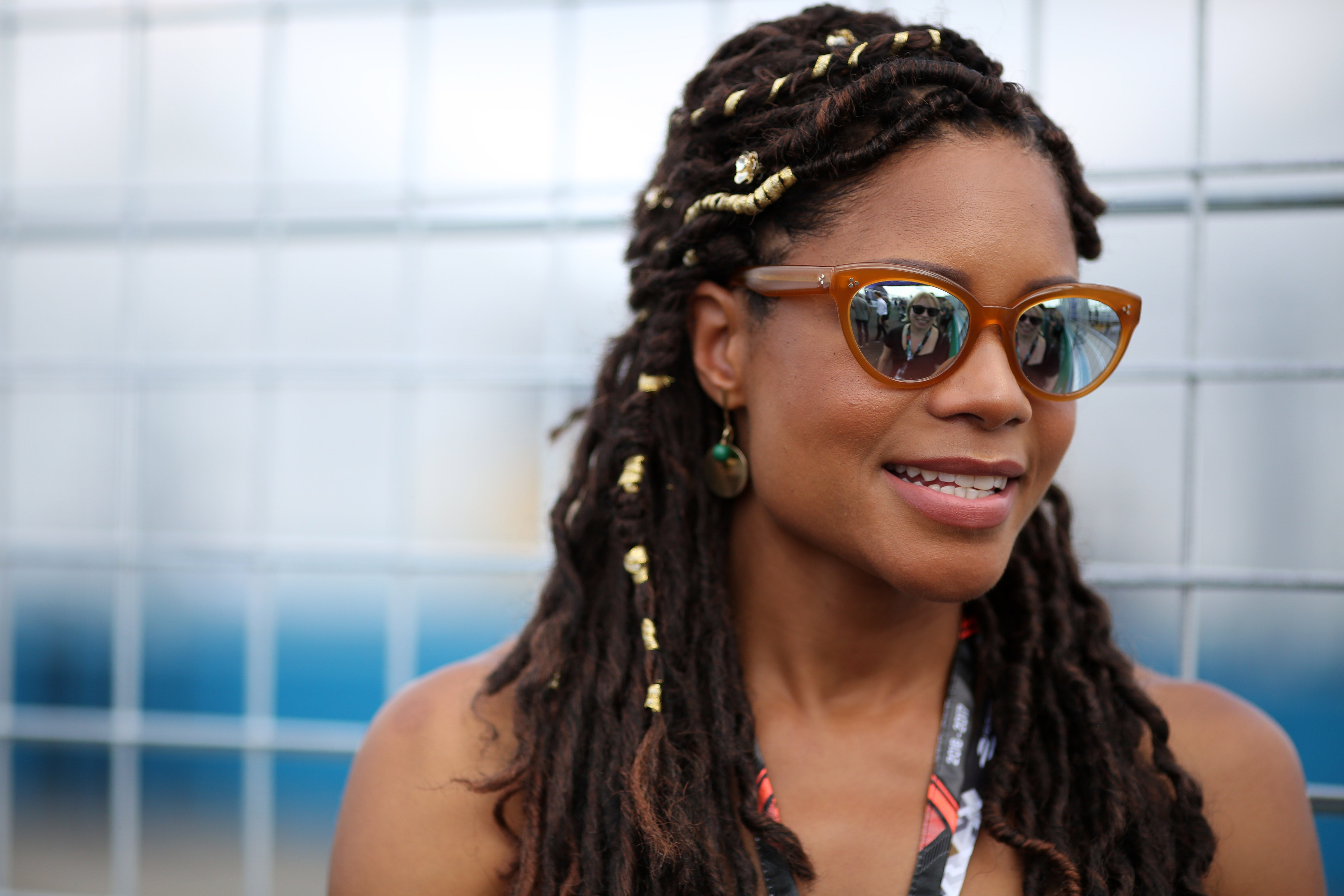 Naomie Harris DitchedHer Straight Hair For Faux Locs and We're Obsessed