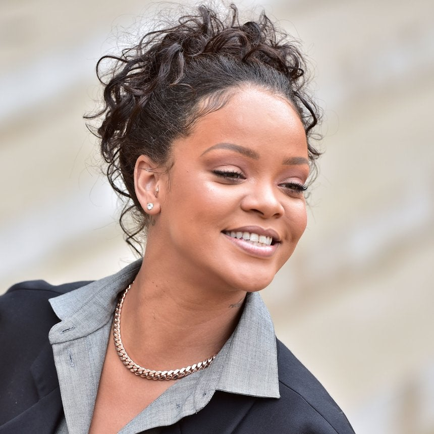 Rihanna Kicks Off Crop Over In Bold Turquoise Hair