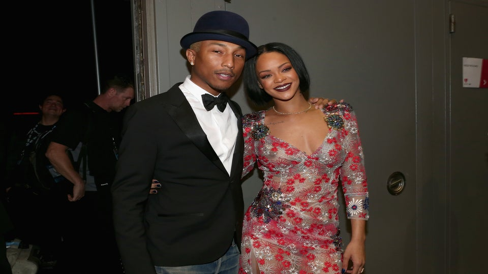 Like Us, Pharrell Williams Paused To Drool Over Rihanna's Crop Over Look