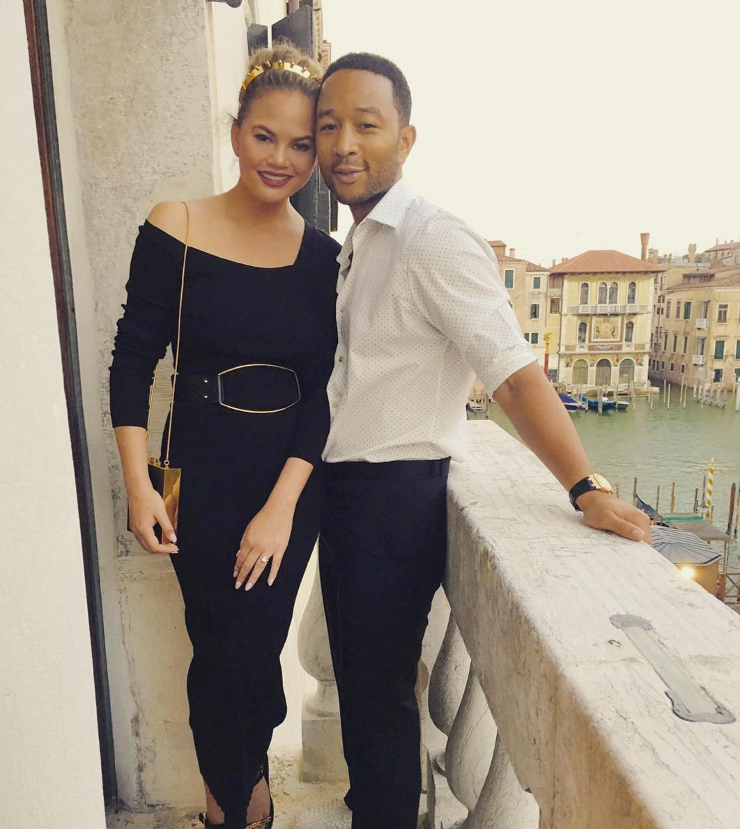 John Legend, Chrissy Teigen and Their Daughter Luna Vacation In Italy (Again!)