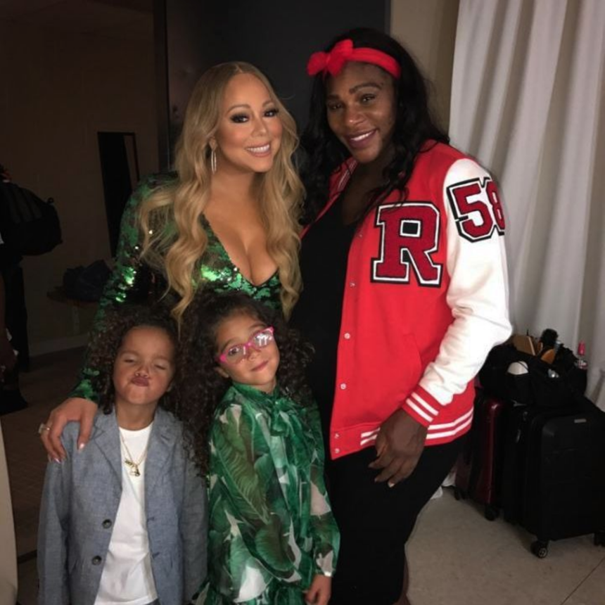 Serena Williams And Mariah Carey Hang Out Backstage With 'Dem Babies'