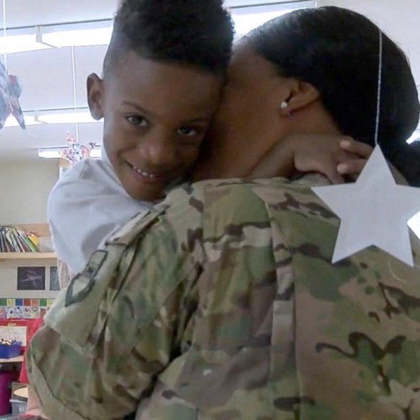 Military mom surprises kids at school after seven month deployment grababc news altavistaventures Image collections
