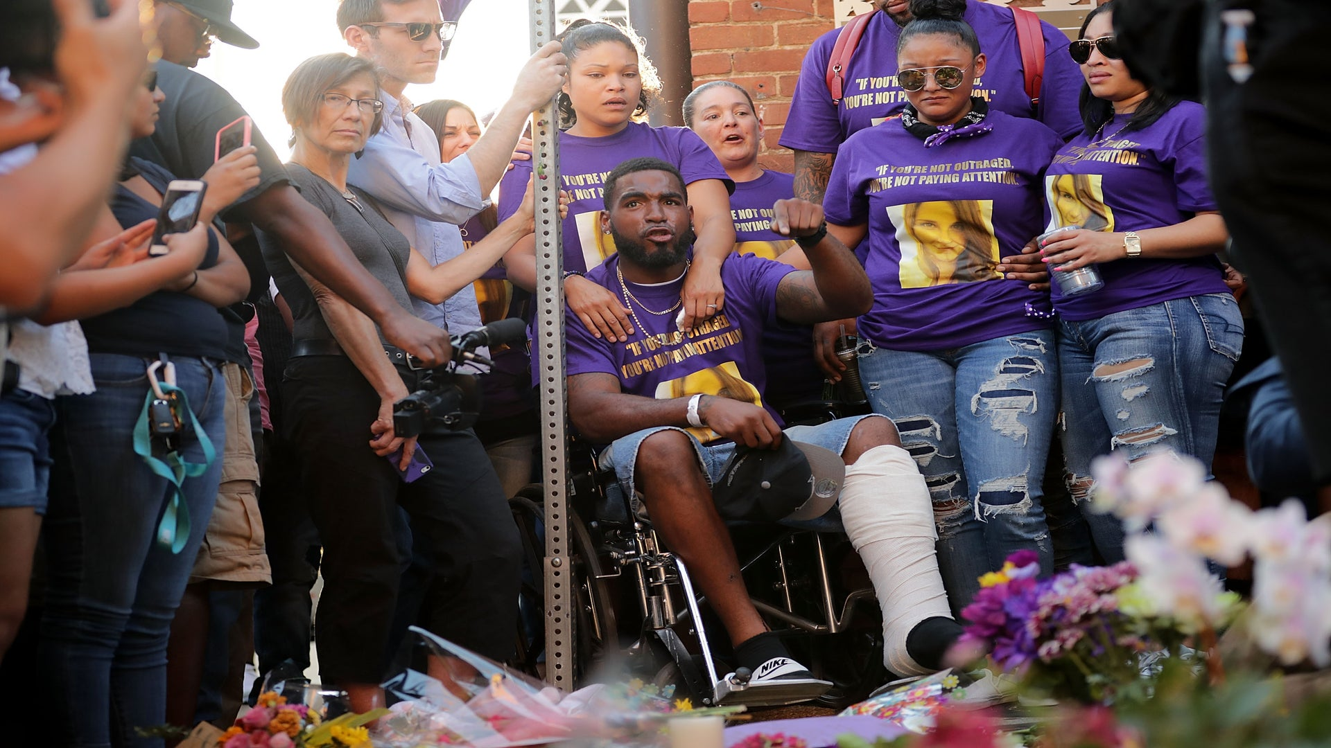 The Man Seen In Viral Charlottesville Car Attack Photo Was Saving His Fiancée's Life