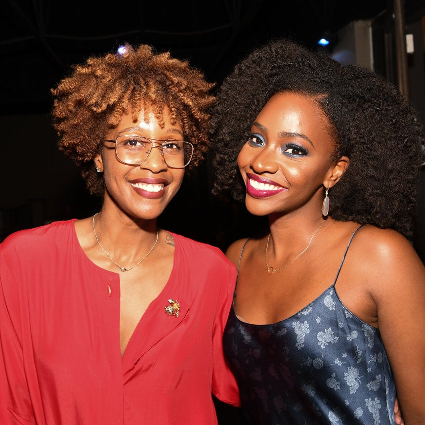 Teyonah Parris Sports Her Signature Afro & A Killer Color Combo To 'Survivor's Remorse' Party