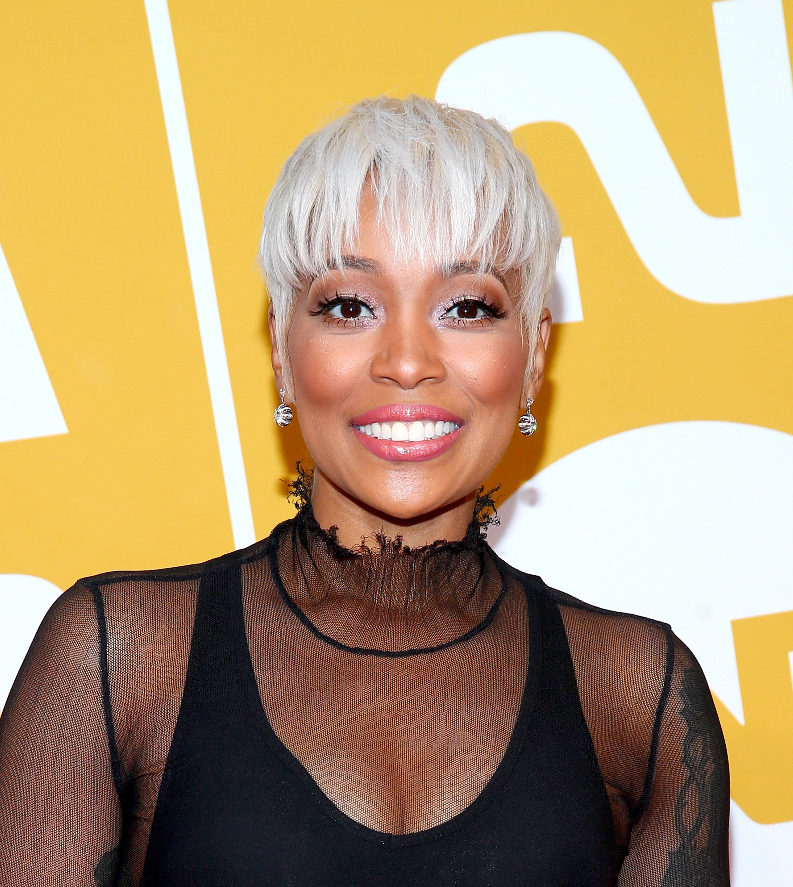 Black Celebs In Short Blonde Hair Essence