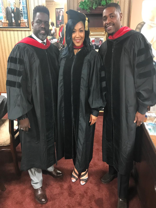 Erica Campbell, Her Husband and Her Brother-In-Law Received Honorary Doctorate Degrees
