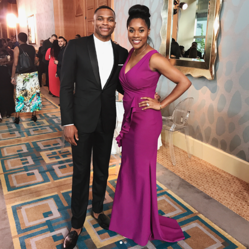 Cute Couple Russell And Nina Westbrook Get All Dressed Up For A Wedding Date Night