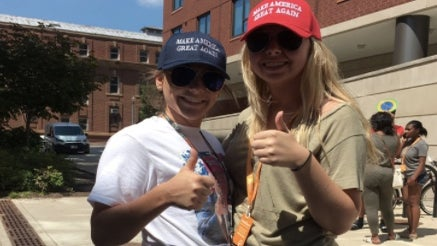 Two White Women Showed Up At Howard University Wearing 'Make America Great Again' Caps