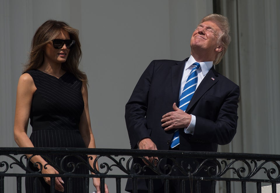 Of Course Trump StaredDirectly At The Sun During The Solar Eclipse