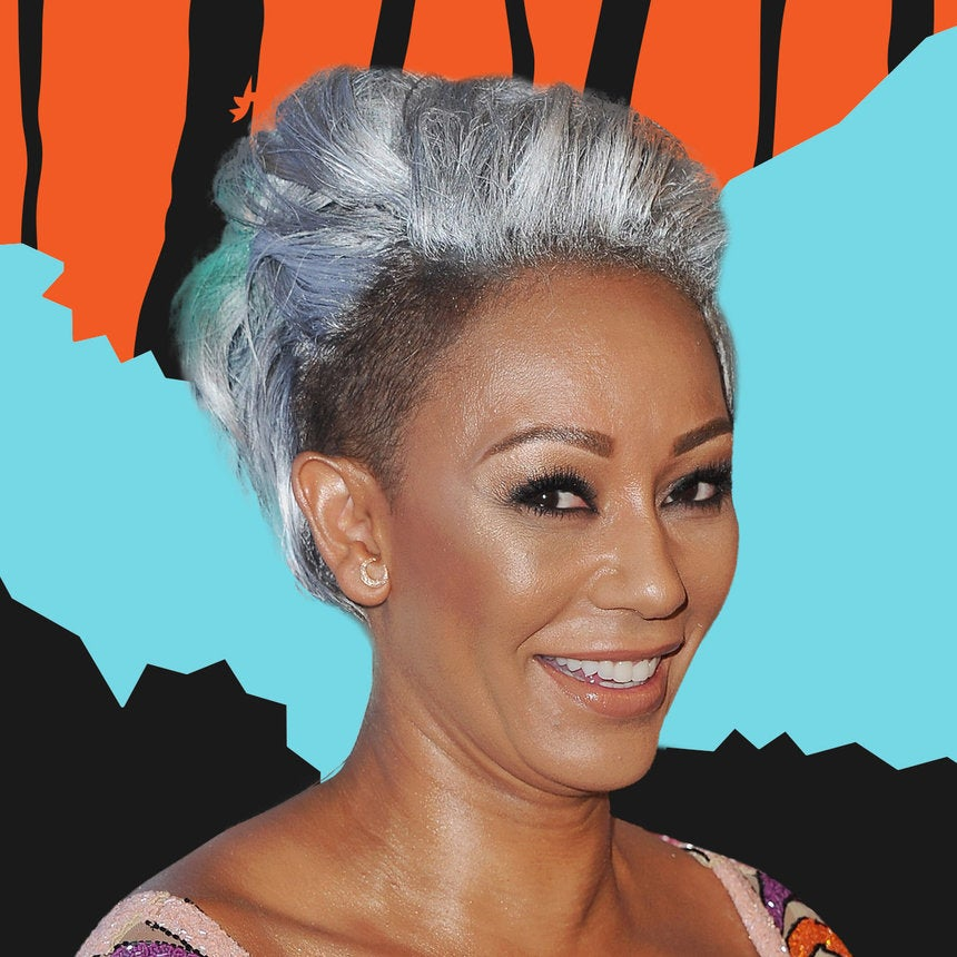 Mel B.'s Gray-Green Mohawk Is Quite The Departure From Her Signature Hair