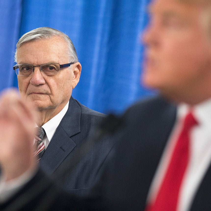 Trump Pardons Racist Sheriff Joe Arpaio As Hurricane Barrels Towards Texas