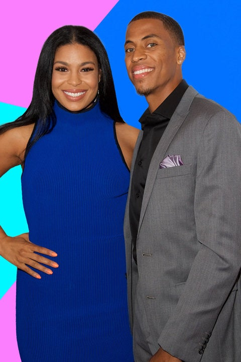 So Cute! Jordin Sparks and Hubby Happily Pose With Her Growing Baby Bump