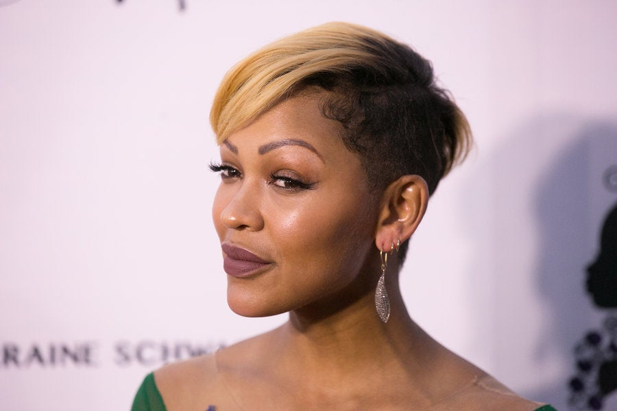 meagan good hair style meagan says goodbye to bowlcut essence 7430 | GettyImages 675005208 900x600