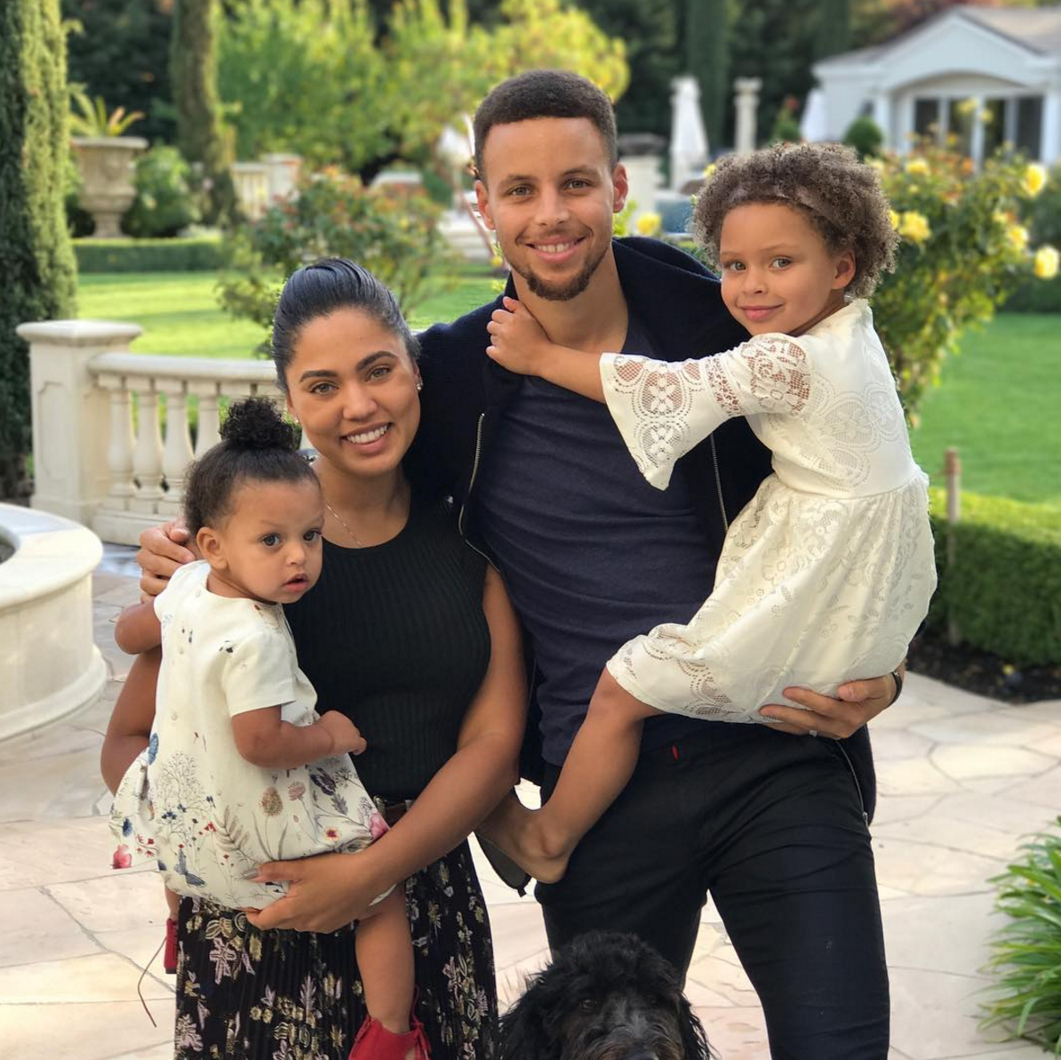 79af433d265 Cute Photos Of Ayesha and Steph Curry s Daughters Riley And Ryan ...
