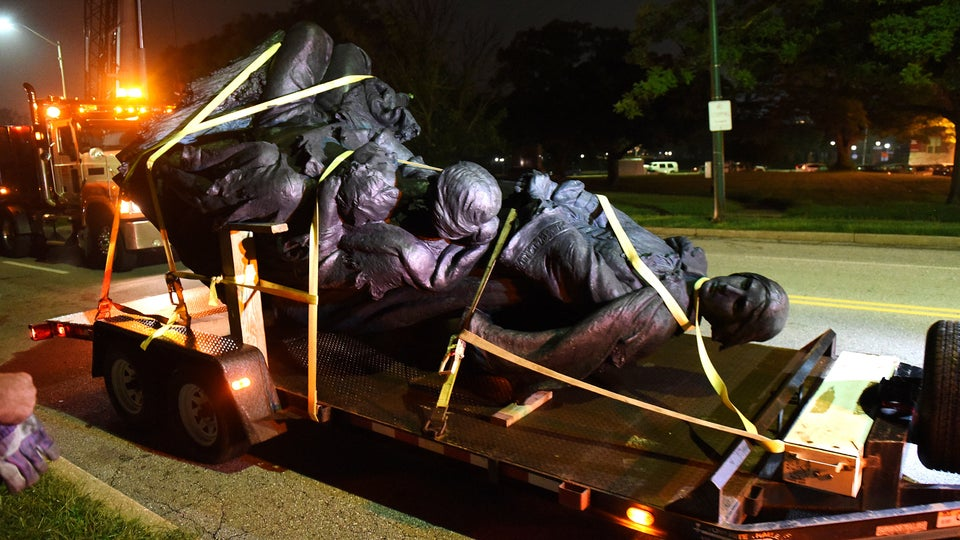 'It's Done.' Baltimore Removes Its Confederate Statues