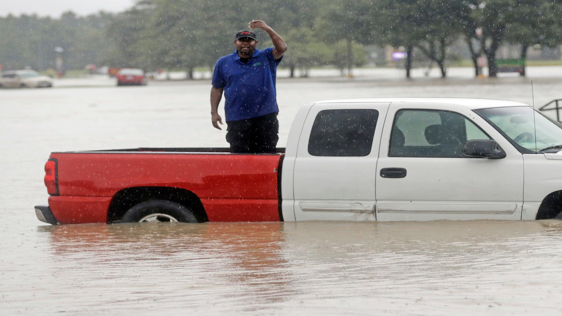 A Weakened Harvey Makes Second Landfall on Louisiana Coast