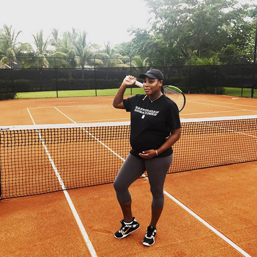 Serena Williams Is 'Exercising For As Long As Possible' During Pregnancy: 'I Want the Baby To Be Healthy'