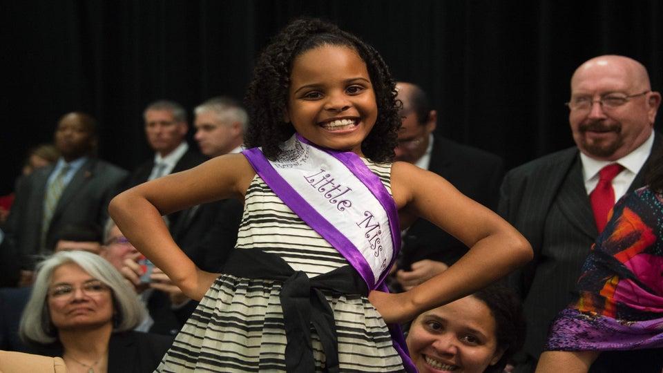 Little Miss Flint Helps Local Kids Get New School Supplies
