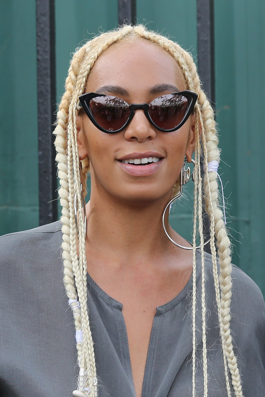 Solange Debuts Blonde Braids Essence