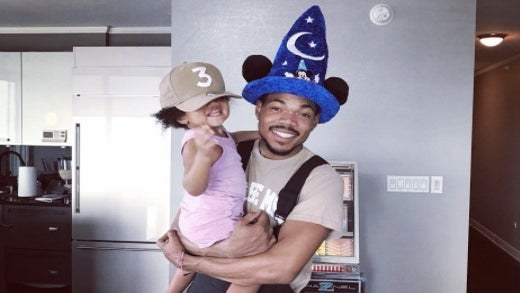 This Video Of Chance The Rapper Turning Up With Cartoon Characters At His Daughter's Birthday Is Too Cute