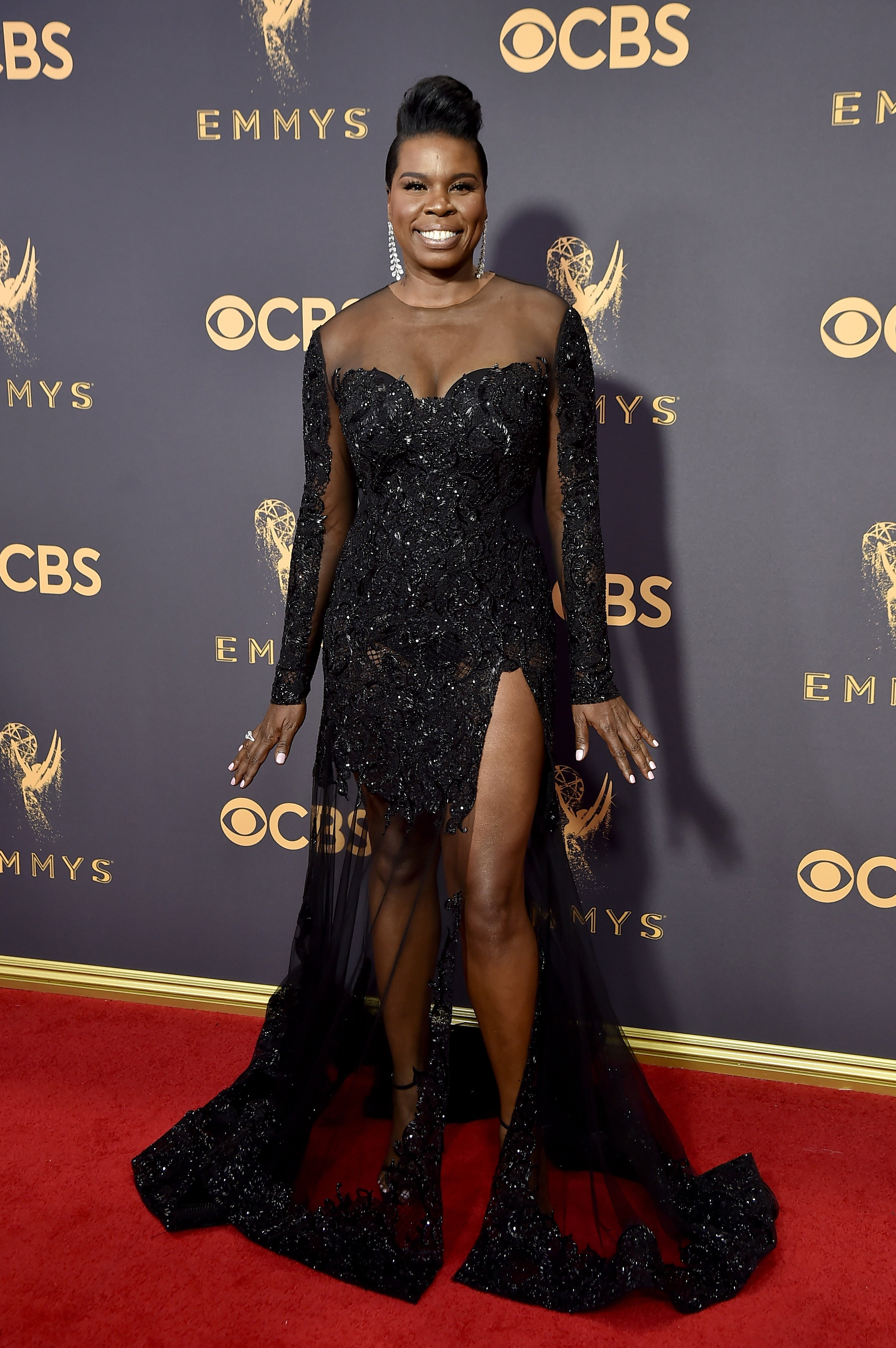 Leslie Jones' Amazing Legs In Her Equally Amazing Christian Siriano Gown at The Emmys Are A Moment In Time