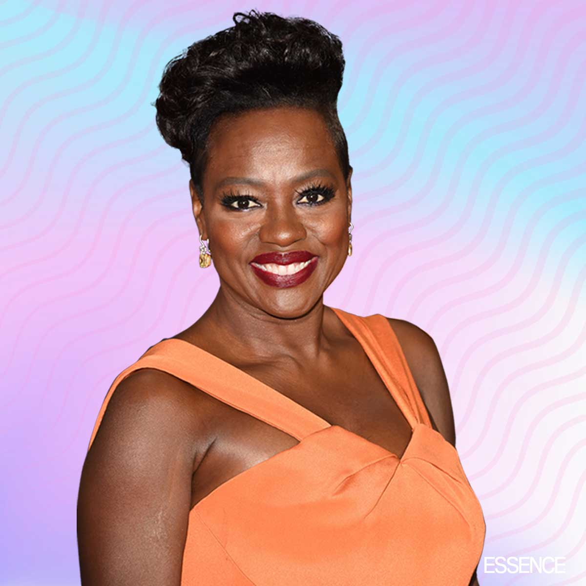 Viola Davis Wears Orange Zac Posen Dress At The Emmys And Is Perfection Per Usual